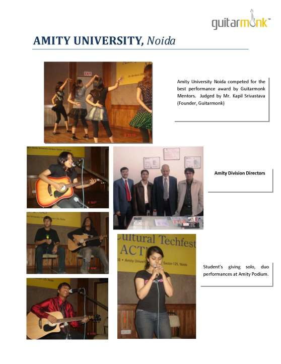 Amity University Music Competition judged by guitarmonk