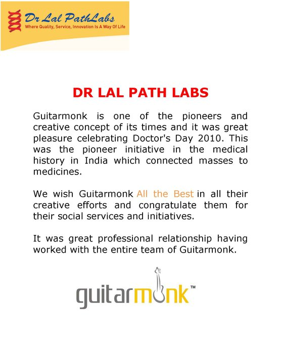 Reviews by Dr. Lal Path Labs on guitarmonk