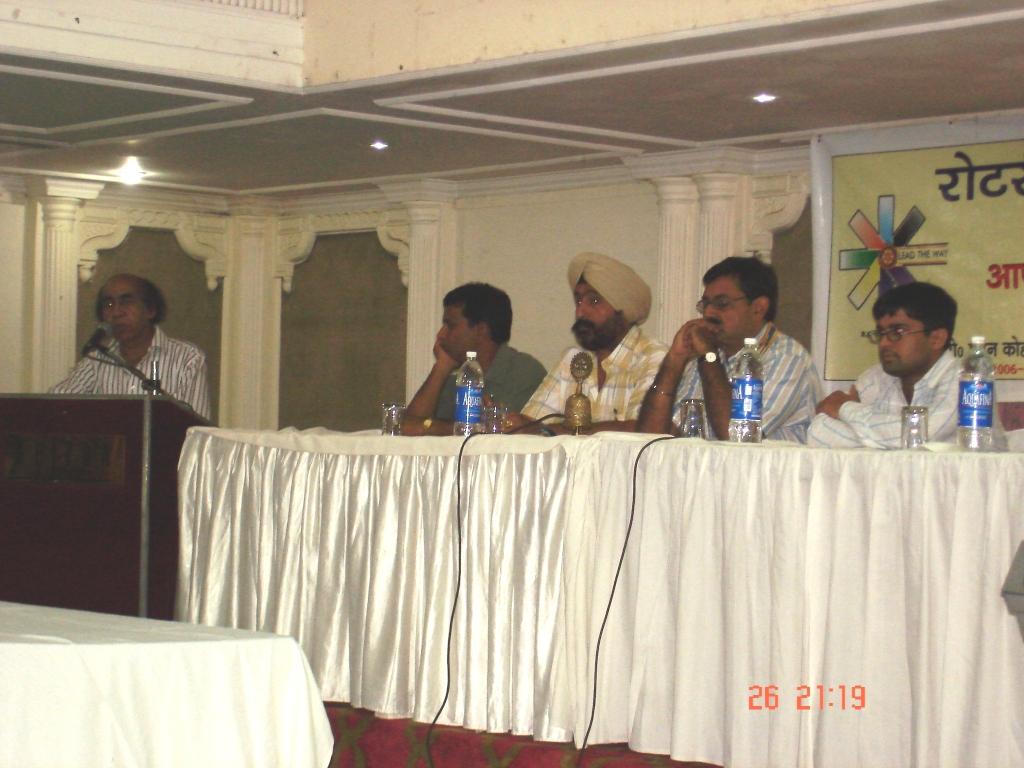 Rotary Club honoring Kapil Image