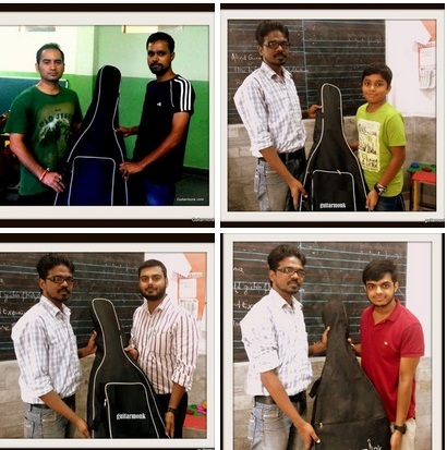 Guitarmonk Institute gifts guitars at Noida Sector 18 Atta Market